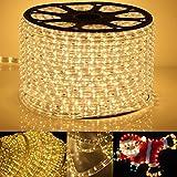 GreenSun LED Lighting 30M Warmweiß LED Strip 1080leds Ø13mm Band leiste IP54 Lichterschlauch Lichterkette Lichtschlauch Schlauch Licht für Außenbereich Innenbereich Party Weihnachten