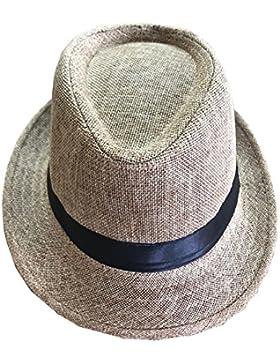 CLUB CUBANA Sombrero Fedora Unisex para Hombres Y Mujeres, Sombrero De Terciopelo Estilo Panamá Verano Playa Sol...