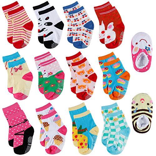 Hohe Knöchel-länge Unten (Lictin 14 PCS Kinder Antirutsch Sock Knöchel Söcken Baby ABS Antirutsch Söcken Antirutsch Babysöcken für kinder)