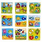 Westeng 1 Stücke Holzspielzeug für Kinder und Baby 3d Puzzles Spielzeug Weihnachten Geschenke Kinder (Zufällige Farbe)