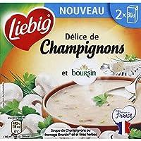 Liebig Délice de champignons et Boursin Les 2 briques de 30cl, soit 60cl - Prix Unitaire - Livraison Gratuit Sous...