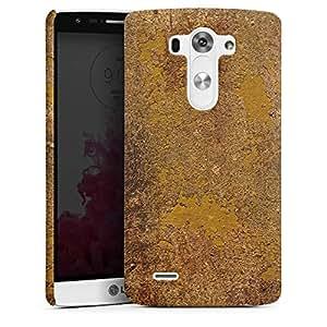 DeinDesign LG G3 Hülle Case Cover Premium Case mat - Yellow Rusty