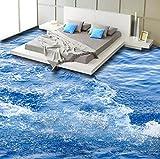 Rureng Moderne Einfache Sea Wave 3D Bodenfliesen Wandbilder Tapete Wohnzimmer Badezimmer Pvc Selbstklebende Wasserdichte Bodenbelag Tapeten 3 D