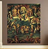 """Bilderdepot24 selbstklebende Fototapete Michelangelo - Alte Meister """"Jüngstes Gericht I"""" 150 x 180 cm - direkt vom Hersteller, Vinyl"""