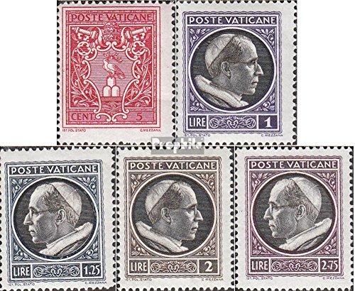 vatikanstadt-84-88-completeedition-1940-pabst-pius-xi-timbres-pour-les-collectionneurs