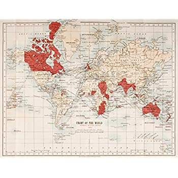 Reproduction imperial federation map of the world showing extent ken welsh design pics map of the world showing in red the extent of the british empire in 1901 photo print 4064 x 3048 cm gumiabroncs Gallery