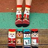 Veewon moda donna novità Fun calze di Natale di calzino New Year confezione da 4paia