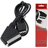 Mcbazel Câble Cordon AV RGB avec câble Péritel avec boîtier de Couleur pour PS3 / PS2 / PSOne PAL (Pas pour HDMI)