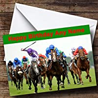 Horse Racing Personalised Birthday Card