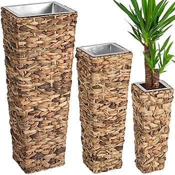 Pflanzkübel Blumenkübel Pflanzgefäß Wasserhyazinthe natur \