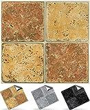30 stück Fliesenaufkleber für Küche und Bad (Tile Style Decals 30xNTP 08 -6'-Cream & Brown Stone)...