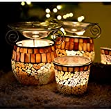 Duftlampe Tunis + Windlicht Aromalampe Mosaik-Glas Vernebler aroma melts Deko