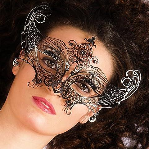 Carnival Toys 00706 - Maske für Erwachsene, Metall, schwarz