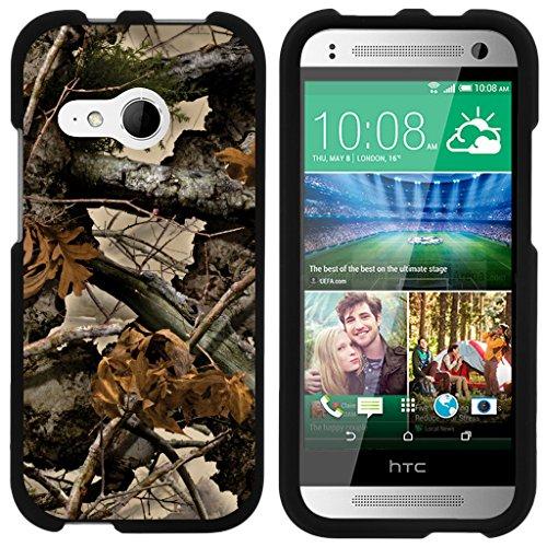 turtlearmor | Kompatibel für HTC One M8Mini Schutzhülle | One Mini 2| One Remix [Slim Duo] Zwei Stück Hard Cover Slim Snap auf Fall auf Schwarz -, Tree Leaves Camouflage