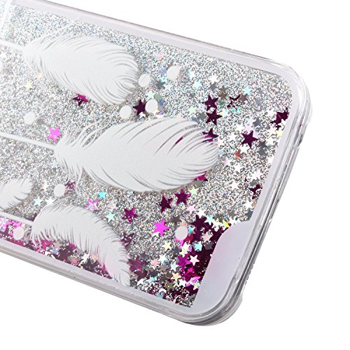 Für Samsung Galaxy S6 Edge Hülle,Galaxy S6 Edge Hülle Bling Glitzer Kristall Strass Diamant Spiegel Hülle,EMAXELERS Galaxy S6 Edge Case Cute Lovely Bär Ring Holder Weich TPU,Galaxy S6 Edge Hülle Silik Liquid 5