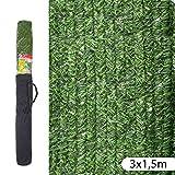 Ldk Garden 82185 - Seto artificial de ocultación para jardín, 300 x 150 x 20 cm, color verde