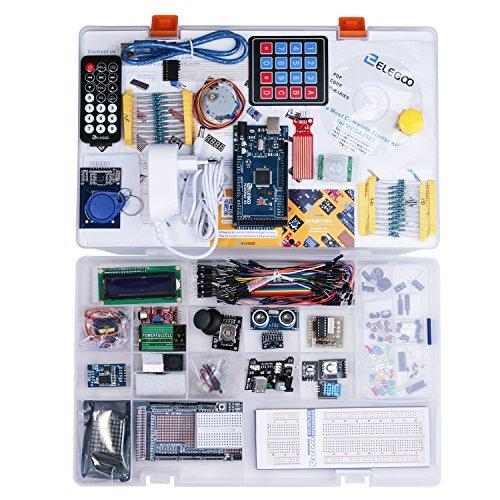 Elegoo-Conjunto-Mas-Completo-y-Avanzado-de-Iniciacin-a-Arduino-MEGA-2560-con-Guas-Tutorial-en-Espaol-y-Conjunto-de-Arduino-con-Placa-Controladora-MEGA-2560-LCD1602-Servomotor-Motor-paso-a-Paso-Arduino