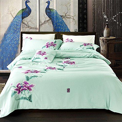 KKCDB Elegante Retro - frischen chinesischen Folk - Ebene Vier stück Stickereien Bett Produkte,Tee,2.0m (6,6 Meter). -
