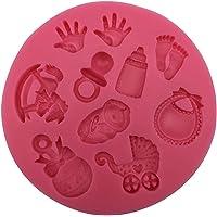 Moule en silicone pour décoration de gâteaux en chocolat - Motif Baby Shower - 3D - Pour gâteaux et pâtisseries