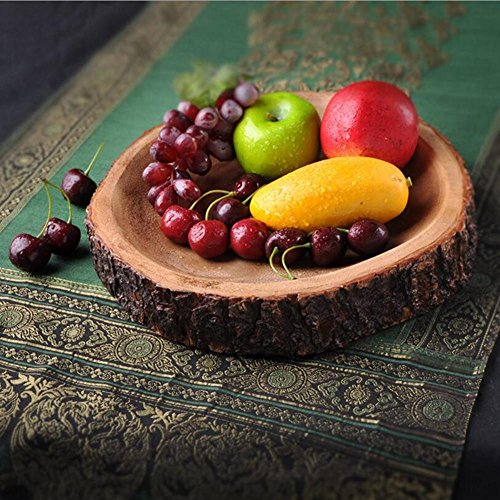 Holzschale Holz Schüssel Serving Retro Platte Handwerk Auf Frucht Salat Kreatives Geschenk Wohnzimmer oder Küche