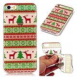 MUTOUREN iPhone SE/5/5S coque phone shell Hard PC Protecteur case Série de Noël Coque de téléphone - Graphes symétriques