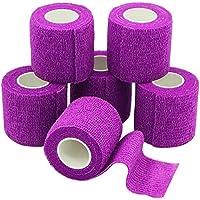 YuMai 6 Rollen Selbsthaftende Bandage, Wundverband, Sport Elastischer Verband, 5cm x 4.5m - Violett preisvergleich bei billige-tabletten.eu