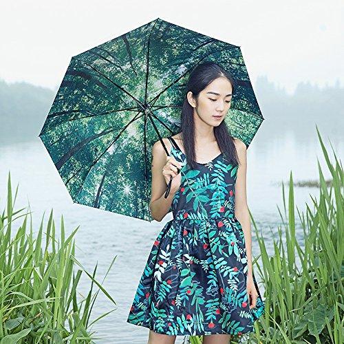 Global- panno colpo panno dell'ombrello acciaio inossidabile in fibra di carbonio portaombrelli Sunscreen ombrellone, ombrello pieghevole adulto doppio uso tre volte ombrello
