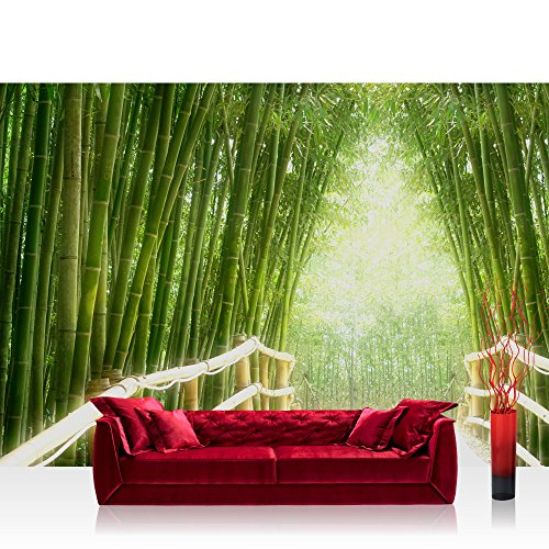 Superflowdesign-Carta da parati in tessuto Non tessuto, con motivo bamboo walk by liwwing (R)-Carta da parati/murale da parete in pile, modalità Murals-Carta da parati/murale, foto, immagini, poster, motivo: foresta di bambù bamboo walk asia, motivo: foresta di bambù della giungla asiatica vie in vendita! Ogni-Colla per carta da parati., Verde, Wallpaper 300x210cm | PREMIUM PLUS