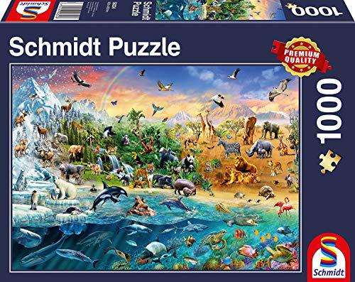 Schmidt- Puzzle Il Mondo degli Animali, 1000 Pezzi, 58324
