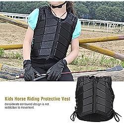 Zerone d'équitation Gilet, Enfants/Enfants de sécurité équestre Cheval d'équitation d'entraînement Gilet de Protection Body Protector Gear Différentes Taille, CS