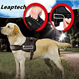 Leaptech(TM) Hundegeschirr Hundekörper Auffanggurt Padded Extra Big Large Medium Small Heavy Duty variieren von allen Arten von Größe (M)