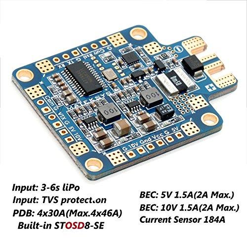 LITEBEE Matek PDB OSD + BEC 3S-6S Placa Distribuidora 180A Sensor Actual...