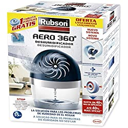 Rubson Aero 360 - Deshumidificador sin enchufe, 450gr