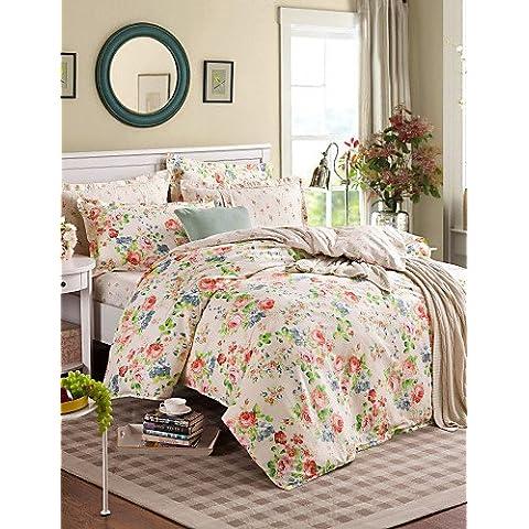 XP HOME buena tela 100% funda de edredón de impresión juego de cama de algodón establece la reina / tamaño doble / full ,