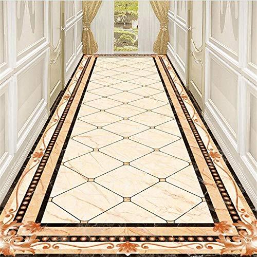 Fototapete 3D Effekt Ustom Bodenbelag 3D Marmor Flur Gang Wasser Messer Parkett Muster Wohnzimmer Einkaufszentrum Hotel Malerei Bodenbelag 400X280Cm