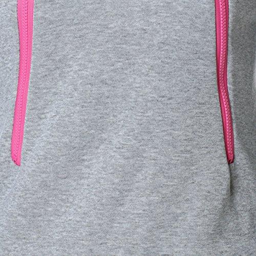 D-Pink Damen Mama Umstands Kapuzenpullover Umstandsshirt Hoodies Sweatshirts Sweatjacke Schwangerschafts Kapuzen Oberteil Tops (Grau) - 5