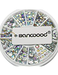 Sanwood Décorations d'ongles pour nail art Strass