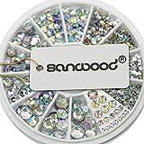 Del brillo del Sanwood diamantes de imitación de acrílico recortada para pistola de clavos de viento y arcoíris