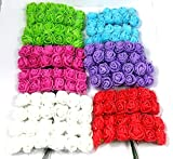#2: Evisha 6 colours beautiful Mini flowers for art/craft & decoration (set of 72 flowers)