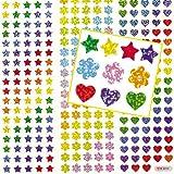 Kleine holografische Aufkleber für Kinder zum Verzieren von Karten und Bastelprojekten- 348 Stück