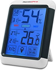 ThermoPro TP55 Termometro Igrometro Digitale con grande Schermo di Tocco Retroilluminato, Misuratore Digitale della Temperatura e Umidità