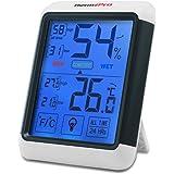 ThermoPro TP55 Thermomètre Hygromètre Numérique, Rétroéclairage Bleu, Grand Écran LCD Tactile, Détecteur de Température/Humidité