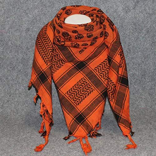 Superfreak Palituch - Totenköpfe klein orange - schwarz - 100x100 cm - Pali Palästinenser Arafat Tuch - 100{77a41921e1a742da7aa88de33fc5fe6e02f90097deecf993c956ec8c5e61c5f9} Baumwolle