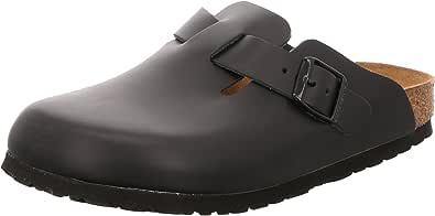 Birkenstock Boston Soft Footbed Mens Dark Brown Shoes