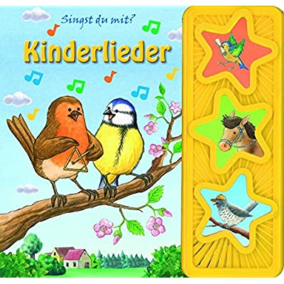 Kinderlieder: wattiertes Kinderbuch, 3-Button-Soundbuch, Pappbilderbuch mit 3 Melodien