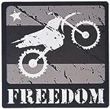 3drose schwarz und weiß distressed Dirt Bike Freiheit Vector Grafik Mauspad (MP _ 180541_ 1)