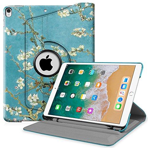 Stand Case Ipad (Fintie iPad Pro 10.5 Hülle mit eingebautem Apple Pencil Halter - 360 Grad Rotierend Stand Cover Case Schutzhülle Tasche mit Auto Schlaf / Wach Funktion für Apple iPad Pro 10,5
