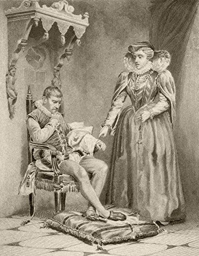 The Poster Corp Ken Welsh/Design Pics - Catherine De' Medici 1519 to 1589 with Her Son Charles Ix of France 1550 to 1574. from A 19Th Century Illustration. Photo Print (30,48 x 40,64 cm) -