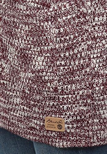 BLEND SHE Zoya Damen Strickjacke Cardigan Grobstrick mit offener V-Ausschnitt aus hochwertigem Material meliert Zinfandel (73006)