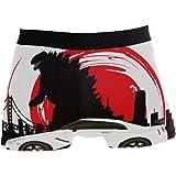 PINLLG Godzilla Dinosauro con Boxer da Uomo, Ragazzo e Ragazzo, Biancheria Intima in Poliestere Spandex Traspirante